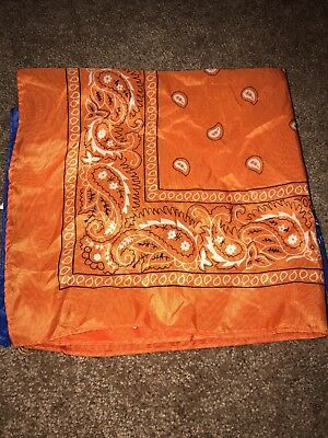 Lot Of 2 Bandanna Orange And Blue REDUCED PRICE!