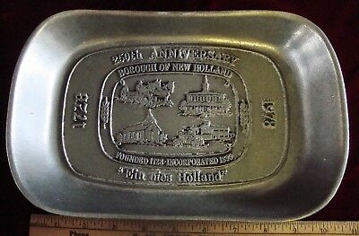 Vintage Wilton Borough of New Holland-250th Anniversary Pewter Dish/Tray, 1978