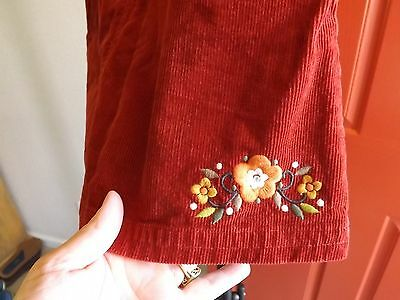 Girls Gymboree Skort Curdoroy w/ Floral Embroidery Size 10 *Great Fall Colors!*