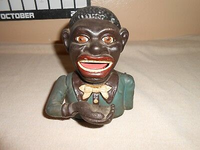 Antique Cast Iron African American Coin Bank
