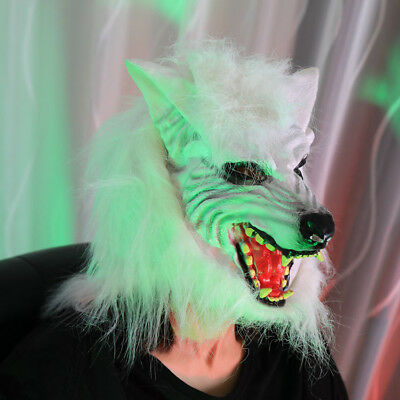 White Wolf Halloween Horror Scary Mask Fancy Dress Costume Props For Party 2018