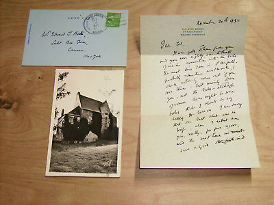 Van Wyck Brooks Signed Letters To Edward Townsend Booth + Flowering Of N England