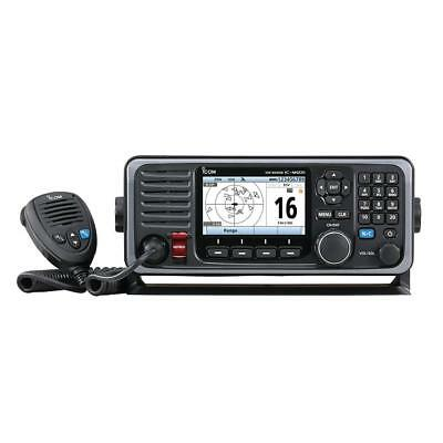 Icom M605 Fixed Mount 25W VHF Color Display, AIS & Rear Mic Connector, NEW
