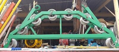 "Greenlee 631/21572 48"" Radius Conveyor Cable Sheave w/8 Wheel Sheaves"