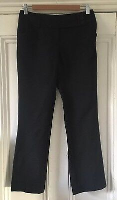George at Asda Girls' Black Deep Waistband School Trousers 12-13 Years VGC