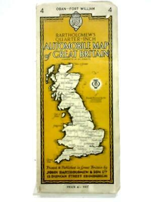 Bartholomew's Quarter Inch Automobile Map of Great Britain No.4(1952) (ID:67433)