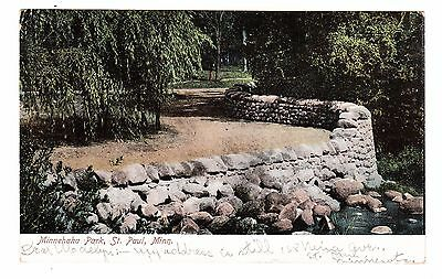 St. Paul Minnesota Vintage Postcard Minnehaha Park Undivided Back Prelinen