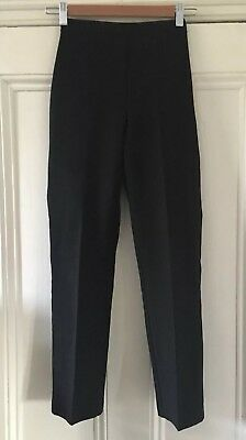 1 x BHS Girls' Straight Leg Black School Trousers 10 Years 140cm VGC