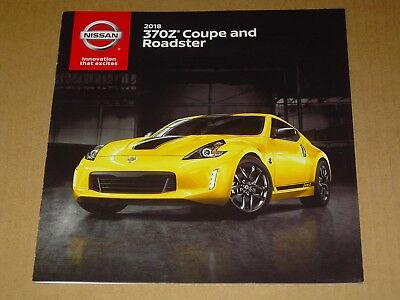 2018 Nissan 370Z Coupe And Roadster Sales Brochure Mint! 20 Pages