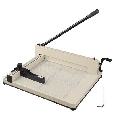 "17"" Heavy Duty Commercial Paper Cutter 400 Sheet Desktop Metal Base Book Trimmer"