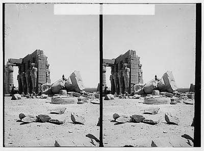 Colossus of Ramses II,Ramesseum,Thebes,Egypt,Egyptian Views,Africa,1900-1920