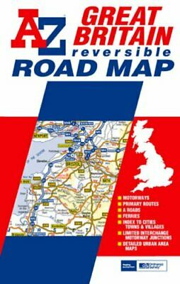 Great Britain Roadmap: Reversible by Geographers' A-Z Map Comp Sheet map, folded