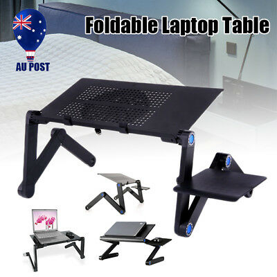 Portable Folding Adjustable Laptop Stand Sofa Bed Tray Desk Table + Mouse Pad AU