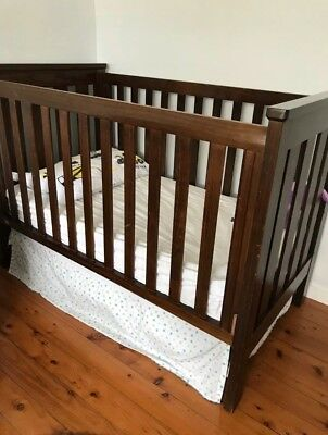 King Parrot by Boori Cot. Converts to toddler bed.