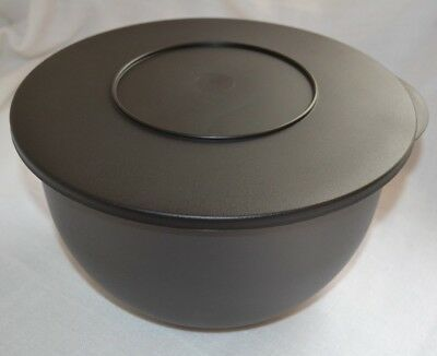 NEW! 19-Cup TUPPERWARE Impressions Large Serving Mixing Bowl Black Smoke Gray!