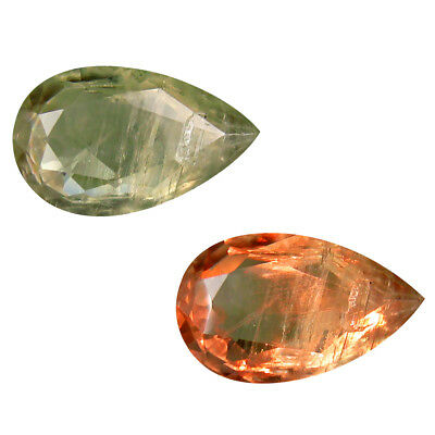5.42 ct Attractive Pear Shape (15 x 9 mm) Un-Heated Color Change Diaspore