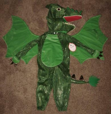 NWT ~ Pottery Barn Kids 2 Piece GREEN DRAGON Boys Halloween Costume Size 7-8 7 8