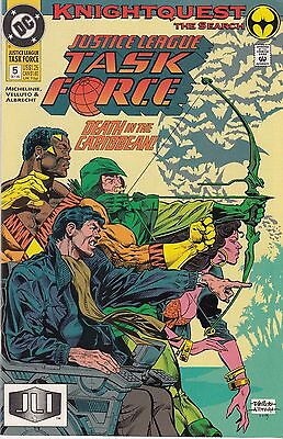 JUSTICE LEAGUE TASK FORCE 5...NM-...1993...Death in the Caribbean!...Bargain!