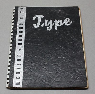Western Typesetting Company Monotype / Foundry Type / Linotype Specimen Book
