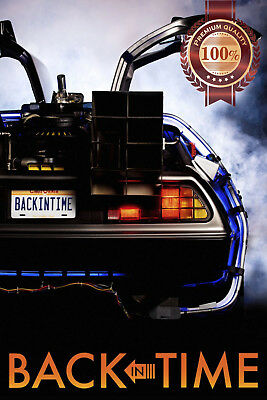 New Back In Time Back To The Future Car Original Movie Film Print Premium Poster