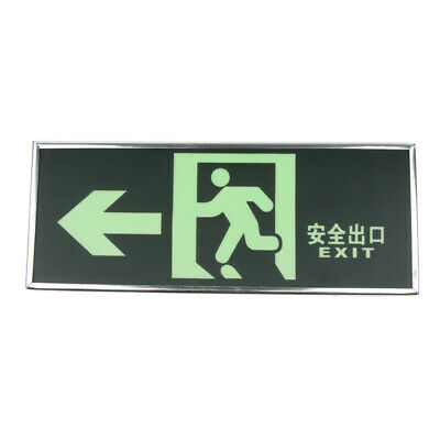 Safety Exit Sign Fire Evacuation Reminder Emergency Sign Sticker Escape Sign