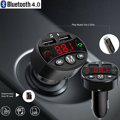 KFZ Bluetooth FM Transmitter Auto Bluetooth 4.0 Radio MP3 Player 2USB Adapter SD