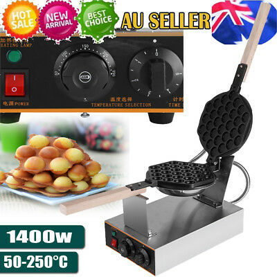 Electric Nonstick Waffle Maker Egg Cake Oven 220V 50℃-250℃ Baker Machine 1.4KW