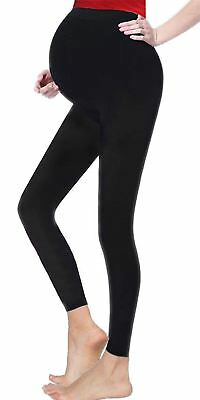 Womens Black Plain Maternity Elasticated Waist Leggings Ladies Sexy Pants Lot