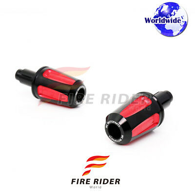 CNC Red FAIZ Bar Ends Covers Set For Ducati Scrambler Classic Sisty2 2015-2017