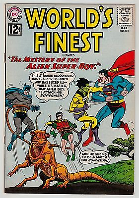 Worlds Finest #124 March 1962 VF 8.0 DC Comics Batman and Robin Superman