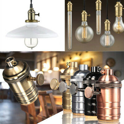 E27 ES Vintage Retro Edison Screw Bulb Socket Lamp Holder Light With Switch Home