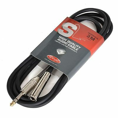 """STAGG NYC1//PS2PR 3 FT Y CABLE STEREO TRS 1//4/"""" MALE JACK W 2 1//4/"""" MALE JACKS"""