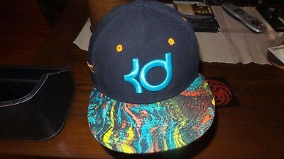 04d7baf777a NIKE KD KEVIN DURANT TRUE SNAPBACK ADULT HAT Black with MULTICOLOR Flat CAP