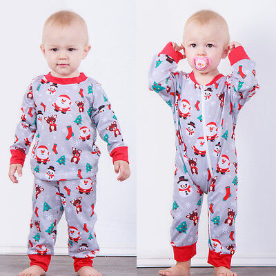 2pcs Toddler Infant Baby Boys Girls Xmas Clothes T-shirt Tops+Pants Outfits Set