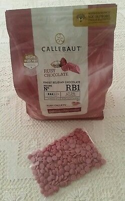 TRY RUBY CHOCOLATE FIRST! Callebaut 100gm - Just Arrived In Australia!
