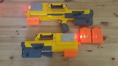 Nerf Gun Deploy CS-6 Blaster x2 With red Laser Light With 2 magazine clips