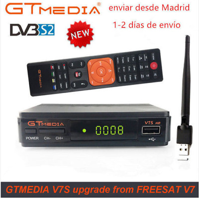 GTMEDIA DVB S2 V7S+Wifi Satellite Receiver Digital Full HD1080p Bisskey Youtube