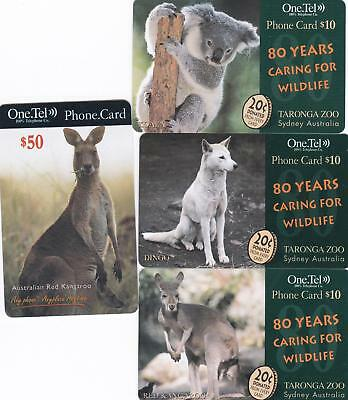 Australian One.tel  Specimen Sample/void Cards Rare Roo $50 Koala  Dingo M28