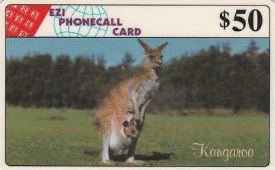 Ezi Phonecards Kangaroo $50 This Card Is Rare Rare C75