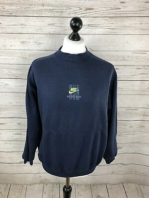 NIKE RETRO SWEATSHIRT Size Large Navy Great Condition