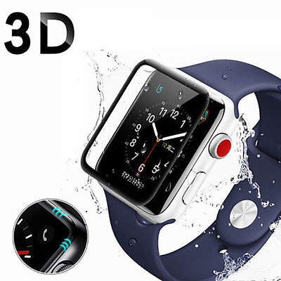 3D Full Cover Screen Protector 9H Tempered Glass For Apple Watch iWatch 44mm