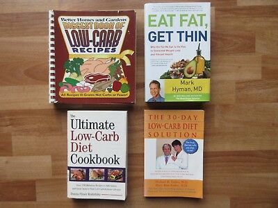 Lot of 4~Low-Carb Cookbooks/Recipes Better Homes Eat Fat get Thin Hyman Eades MD