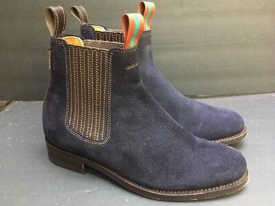 21c990a3b43 Penelope Chilvers Chelsea Boots 9.5 M 39.5 Blue Suede shoes Ankle Boots