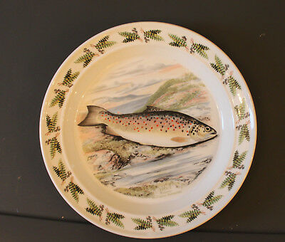 Portmeirion Compleat Angler Fish Large Oval Dinner Plate/Dish - Trout/Fern