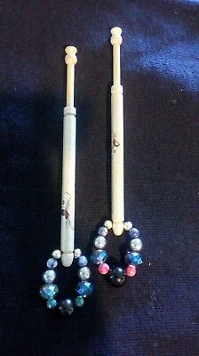 Lace bobbins lacemaking butterfly