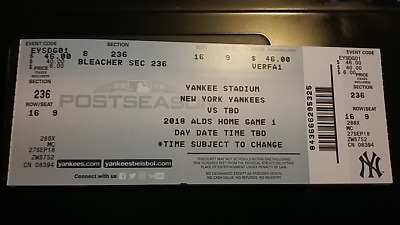 YANKEES VS RED Sox 2018 ALDS Game 3 Unused Ticket Stub 10/8 Brock Holt Cycle