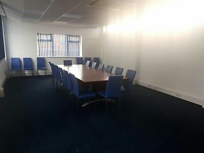 Board Room Table sits fourteen. 3500mm by 1200mm CHAIRS NOT PART OF SALE.