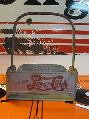 Vintage Early Pepsi Cola Metal Crate * Carrier * WE Co Atlanta GA * Double Dot*