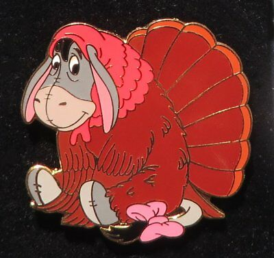 Walt Disney World pin: Thanksgiving Eeyore dressed as a turkey, LE 3500
