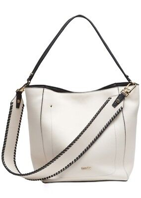 f1443562e4 CALVIN KLEIN LYNN Pebble and Suede Flap Hobo Shoulder Bag NEW And ...